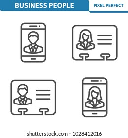 Business People Icons. Professional, pixel perfect icons optimized for both large and small resolutions. EPS 8 format. 5x size for preview.