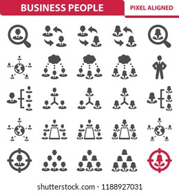 Business People Icons. Professional, pixel perfect icons, EPS 10 format.