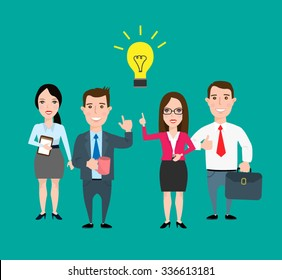 business people with idea.office team. men and women