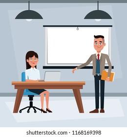 Business people inside office