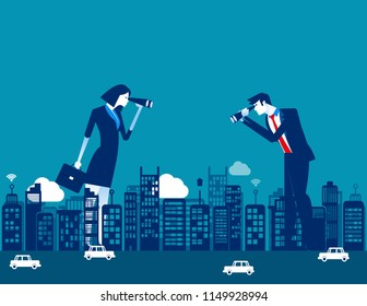 Business people and investor, Concept business financial occupation vector illustration. Flat cartoon character, style design.