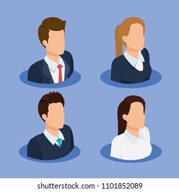 business people isometric avatars