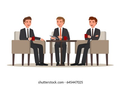 Business people meeting and drinking coffee
