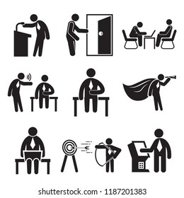 business people and office workers for organization  and management metaphor