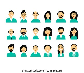 Business people, set of simple icons for ypur design
