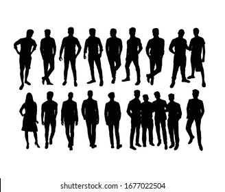 Business People Silhouettes, art vector design