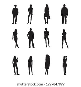 Business People Silhouettes. Vector Illustration