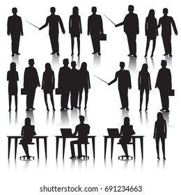 Business people silhouettes.Vector