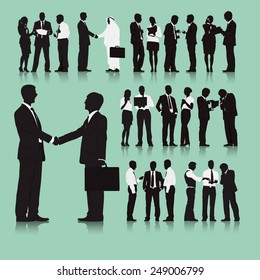 Business People Team Connection Corporate Vector Concept
