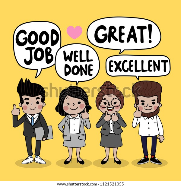 Business People Teamwork Cartoon Character Said Stock -3973