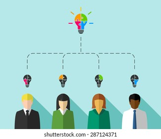 Business people as teamwork and diversity concept