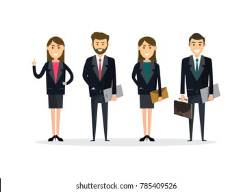 Business People teamwork ,Vector illustration in flat style cartoon character.