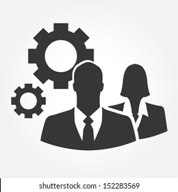 Business people vector icon - Ideas, function, engineering and industrial concept