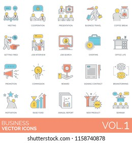 Business people vector icons.
