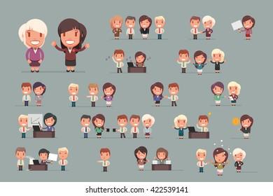 Business people vector set