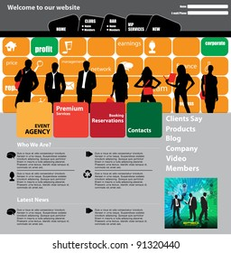 Business people website background