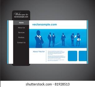 business people website template