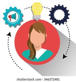 Business people work graphic design, vector illustration eps10