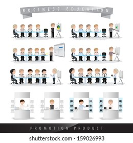 Business People In Work Isolated On White Background - Vector Illustration, Graphic Design Editable For Your Design. Team Working In Office.