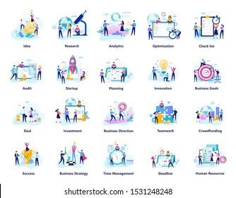 Les hommes d'affaires travaillent en équipe. Collection de travail d'équipe créatif. Symbole de succès et industrie financière. Illustration vectorielle à plat