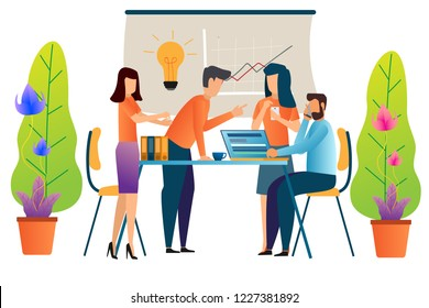 business people working teamwork vector illustration.
