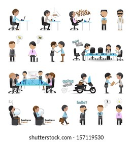 Business Peoples - Isolated On White Background - Vector Illustration, Graphic Design Editable For Your Design