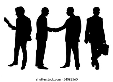 Business peoples isolated in white background