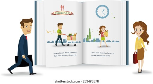 Business peple infographic.vector illustration