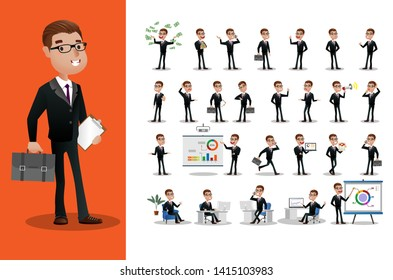 Business person Set. office workers