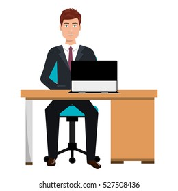business person sitting in workplace