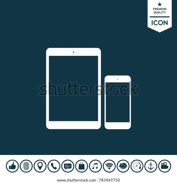 Business Phone and Tablet with blank screens