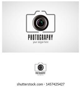 business of photo camera logo vector design and idea for photography studio - Vector.