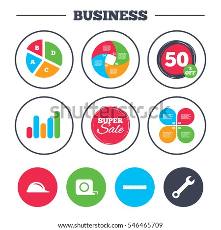 Business Pie Chart Growth Graph Construction Stock Vector Royalty