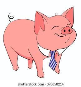 Business piggy tie for any ideas and projects, vector, EPS 10