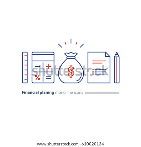 Business Plan Concept Budget Planning Financial Stock Vector