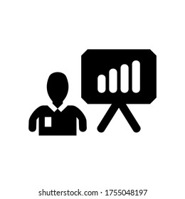 business plan icon or logo isolated sign symbol vector illustration - high quality black style vector icons