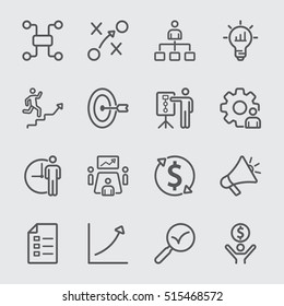 Business plan line icon