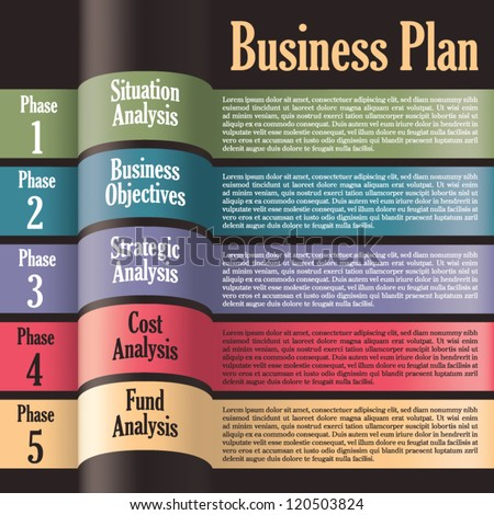 Business plan modern design template presentation stock vector business plan modern design template presentation with letters and numbers for info graphics fbccfo Gallery