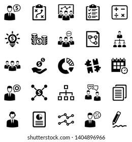 Business Planning Icon Set (Black Series)