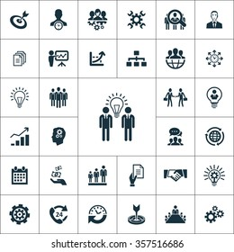 business planning Icons Vector set