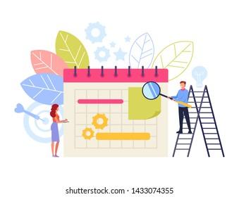Business planning organization concept. Vector flat cartoon graphic design illustration
