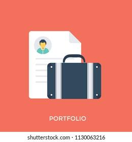 Business portfolio bag with personal biodata