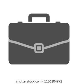 business portfolio illustration, office suitcase - Briefcase icon