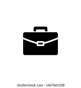 Business portofolio, bag or briefcase icon in flat style