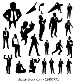 Business poses set.