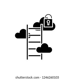 Business possibilities black icon, vector sign on isolated background. Business possibilities concept symbol, illustration