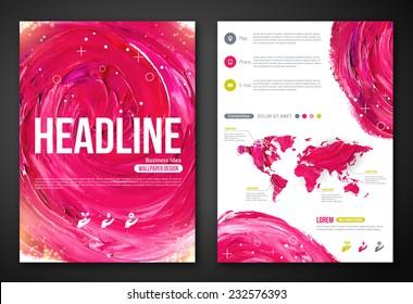 Бизнес-плакат или флаер с краской абстрактный розовый фон. Векторная иллюстрация. Типографский шаблон для текста. Женщина красота, здоровье и спа, мода тема.
