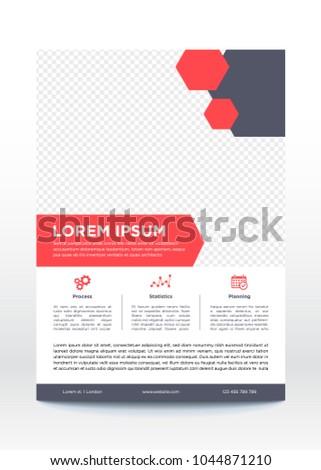 Business Poster Template Flyer Brochure Design Stock Vector (Royalty
