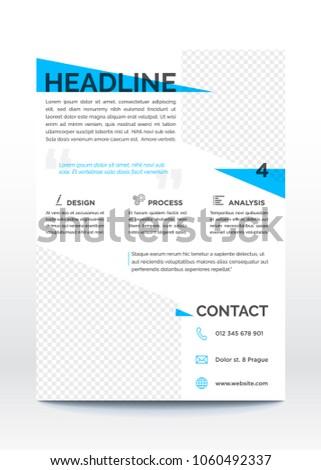 business poster template flyer brochure design stock vector royalty