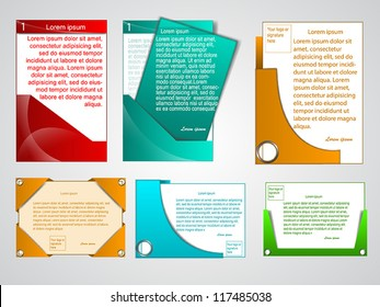 Business Presentation and, or presentation background with different themes and colors.
